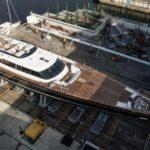 На воду спущен 60-метровый парусник «Seven»